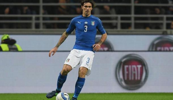 Romagnoli con la maglia azzurra martedì sera - google.it