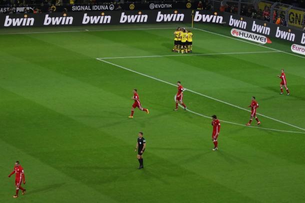 La festa del Borussia. | Fonte immagine: Twitter @FCBayern