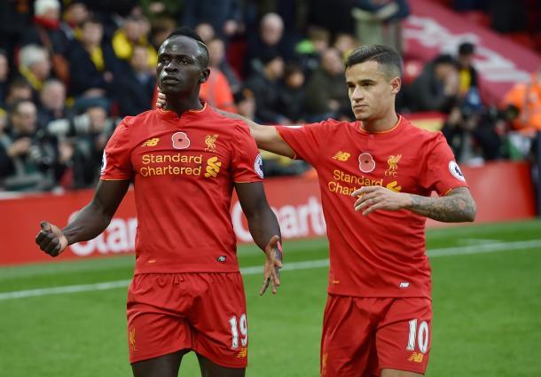 Mané y Coutinho son las grandes figuras de este Liverpool de Klopp | Foto: Liverpool
