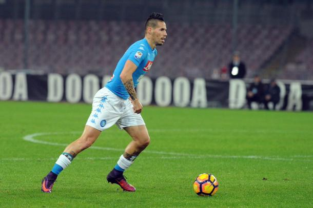 Hamsik in azione. Fonte: https://twitter.com/sscnapoli?lang=it