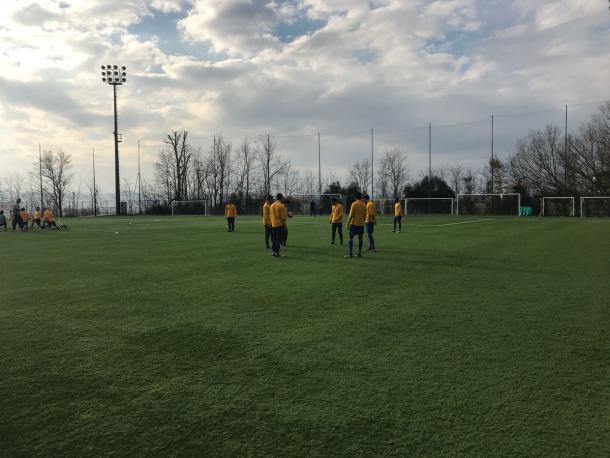 Il warm-up bianconero | Foto: @juventusfc