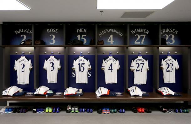 Spogliatoio Tottenham | Twitter Account: @Spursofficial