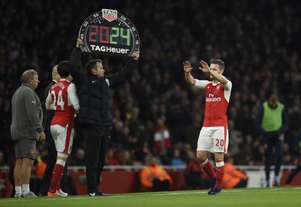 La svolta per l'Arsenal. (Fonte immagine: Twitter @Squawka)