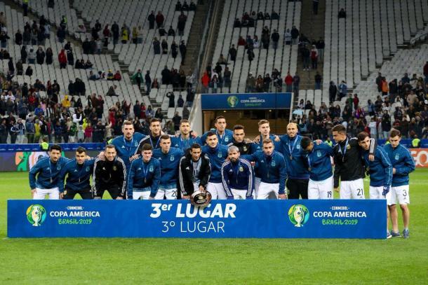 Messi e Otamendi não receberam as medalhas ( Divulgação/Copa América)