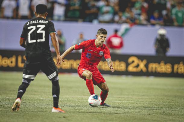 Christian Pulisic durante la final ante México | Foto: US Soccer