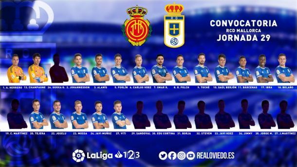 Convocatoria de Anquela   Imagen: Real Oviedo