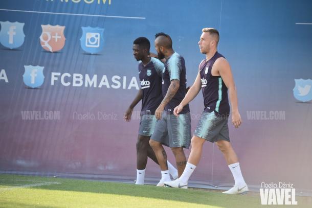 Dembélé, Arturo Vidal y Arthur se preparan para la Supercopa en Tánger | Foto: Noelia Déniz - VAVEL