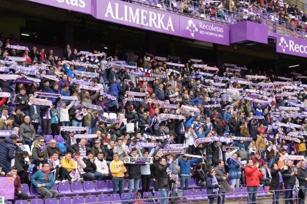 Aficionados del Real Valladolid animan al equipo en Zorrilla | Real Valladolid