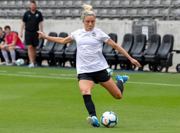 Kristie Mewis looks to return to the field after her ACL injury. | Source: Houston Dash