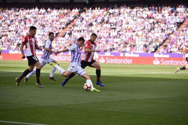 Ünal dispara a portería | Real Valladolid