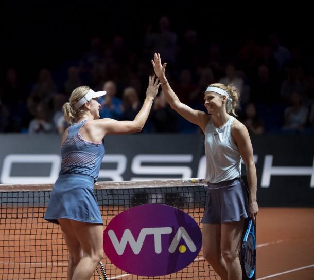 não ficaram com o título mas saíram com nossos corações, verdadeiras campeãs (Foto: Divulgação/WTA de Stuttgart)
