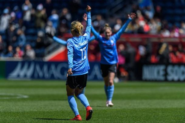 Yuki Nagasato has been on fire for the Red Stars lately. | Photo: isiphotos.com via @ChiRedStarsPR