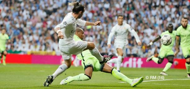 Gol de Bale al City. Fuente: Real Madrid