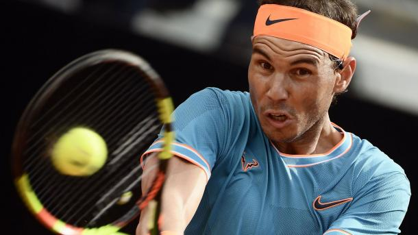 Nadal ataca con todo a Novak. Imagen-ATP
