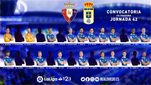 Convocatoria de Egea   Imagen: Real Oviedo