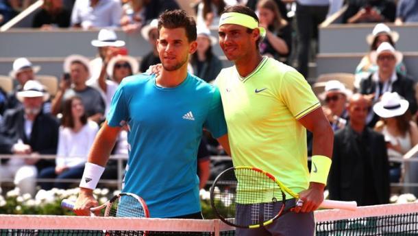 Thiem y Nadal listos para la final. Imagen-ATP
