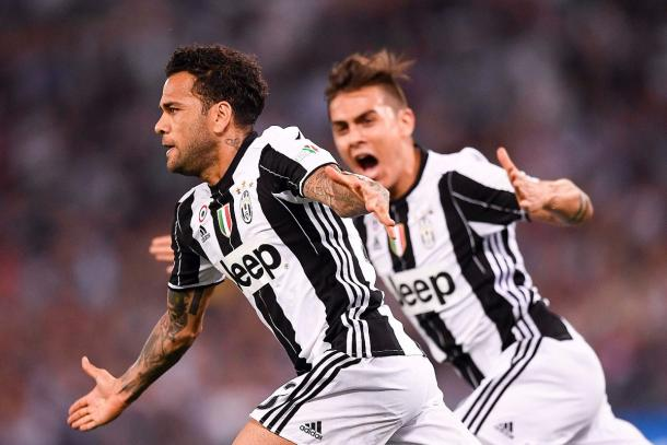 Alves celebrando su gol | Foto: Juventus