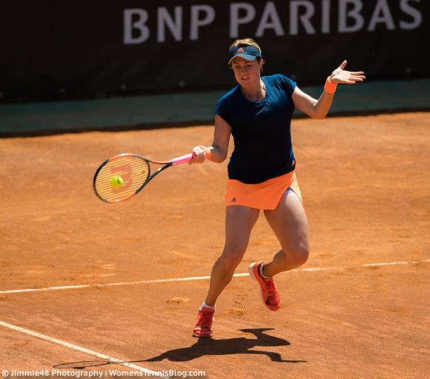 Anastasia Pavlyuchenkova in action at the Mutua Madrid Open | Photo: Jimmie48 Tennis Photography