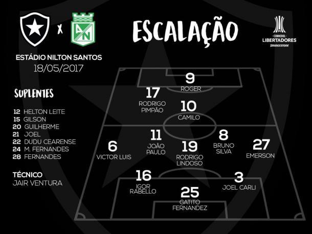 Foto: @BotafogoOficial
