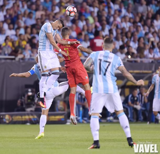 Argentina's defense impressed in this fixture (Photo credit : Dean Reid, VAVEL USA)