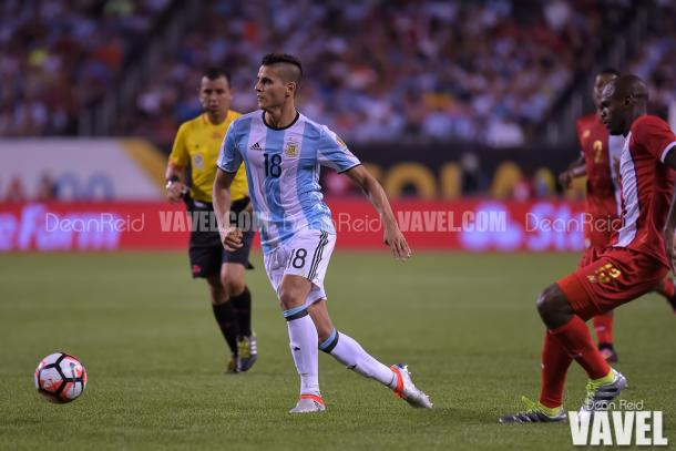 Érik Lamela (Center) might start on Tuesday against the United States, as he replaces