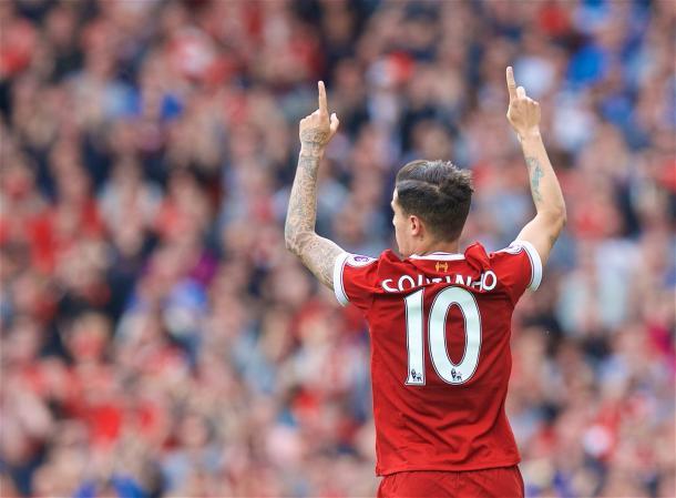 Coutinho acerca la Champions para los Reds | Foto: Premier League.