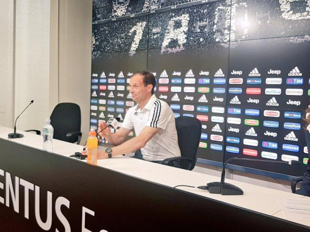 Allegri in conferenza stampa. Foto: Twitter