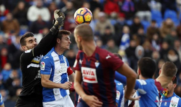 Diego Barrios en su debut en Primera | Fuente: LaLiga