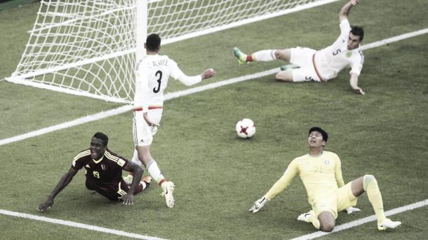 Gol de Sergio Córdova a la selección de México / Foto: FIFA.com