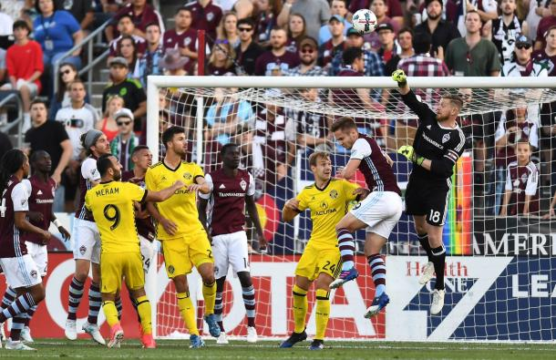 The Rapids defense put in a strong performance against Columbus | Source: Ron Chenoy-USA TODAY Sports