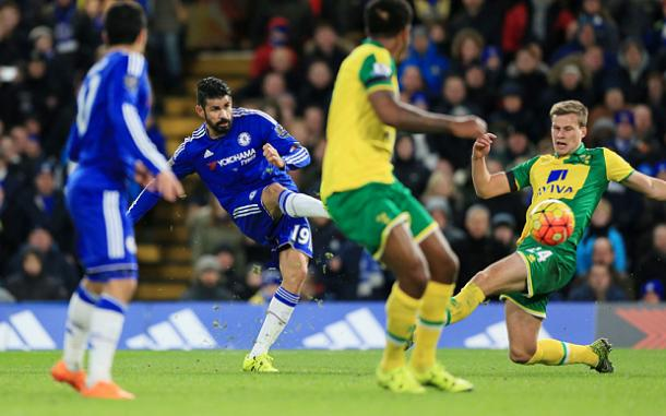 Can Norwich stop Costa? | Image source: The Telegraph