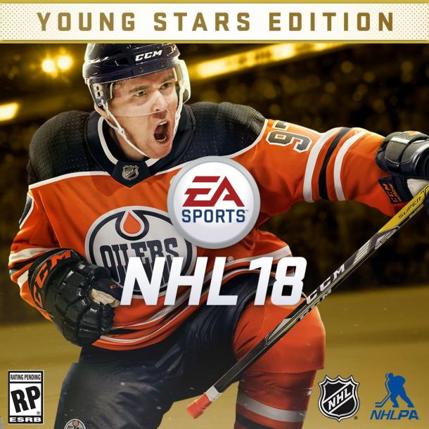 The kids are indeed all right as Connor McDavid is the cover boy of NHL 18 (EA Sports Twitter)