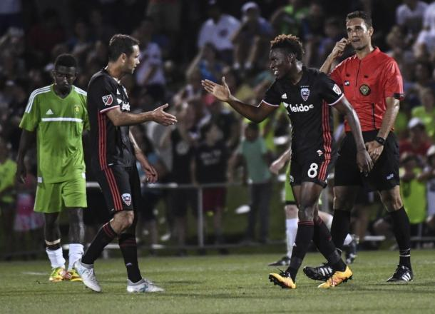 DC United celebrate a 4-1 win over Christos FC | Source: Toni Sandys, Washington Post