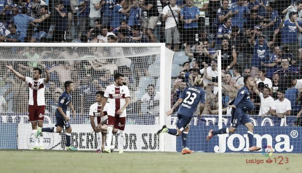 Cala comemora o seu gol, o primeiro da partida | Foto: Divulgação/La Liga