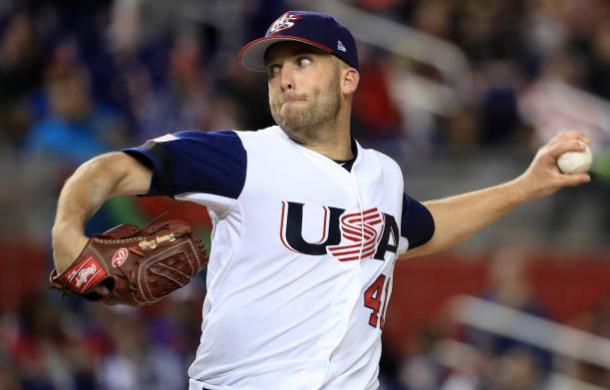 Danny Duffy pitches gem for the USA. | Photo:
