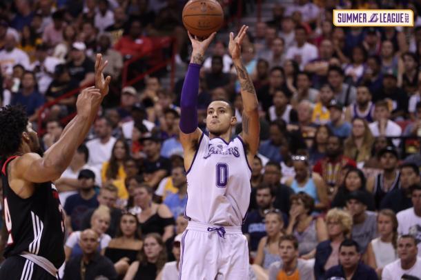 Com 30 pontos e 10 rebotes no jogo decisivo, Kyle Kuzma foi eleito o MVP da final (Foto: Divulgação/Lakers)