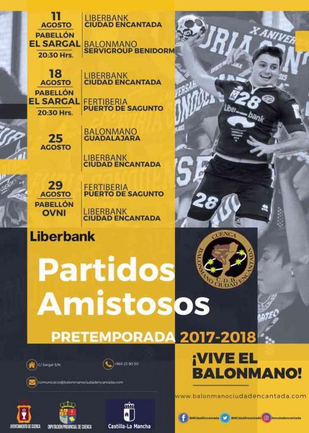 Calendario de pretemporada del Ciudad Encantada. Foto: BM Ciudad Encantada.