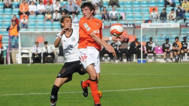 Iago en su debut con el Celta ante la UD Salamanca | Foto: La Voz de Galicia