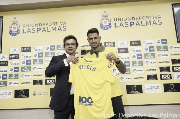 Vitolo é apresentado pelo Las Palmas | Foto: Divulgação/UD Las Palmas