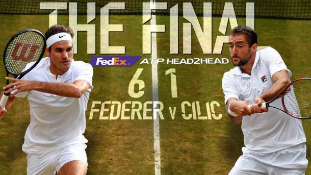 Federer - Cilic - Fonte: @ATPWorldTour / Twitter