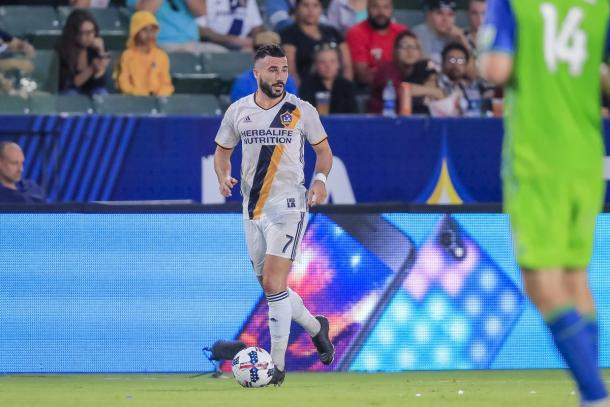 Romain Alessandrini had a quiet game by his high standards | Source: lagalaxy.com