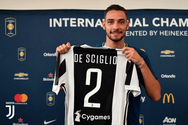 Uno dei nuovi acquisti della Juventus, Mattia De Sciglio. Foto: Twitter