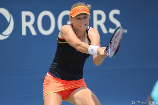 Ekaterina Makarova failed to extend her winning streak to eight | Photo: Max Gao / VAVEL USA Tennis
