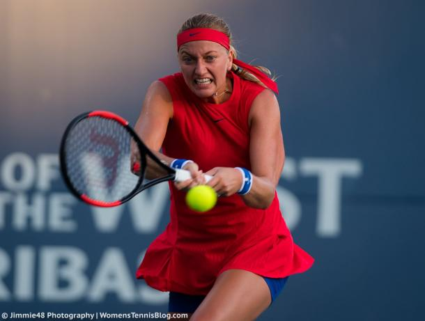 Kvitova bows out to Bellis in WTA event