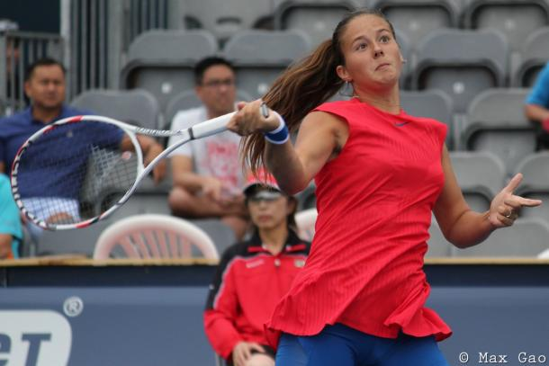 Daria Kasatkina in action during the match | Photo: Max Gao / VAVEL USA Tennis
