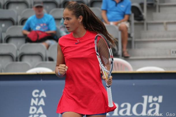 Daria Kasatkina will next face Elise Mertens in the second round | Photo: Max Gao / VAVEL USA Tennis