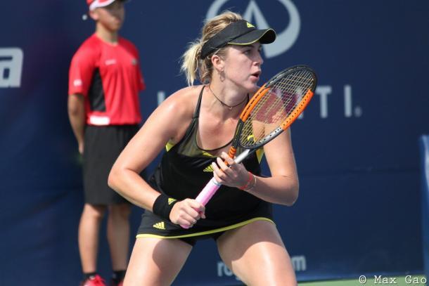 Anastasia Pavlyuchenkova in action | Photo: Max Gao / VAVEL USA Tennis