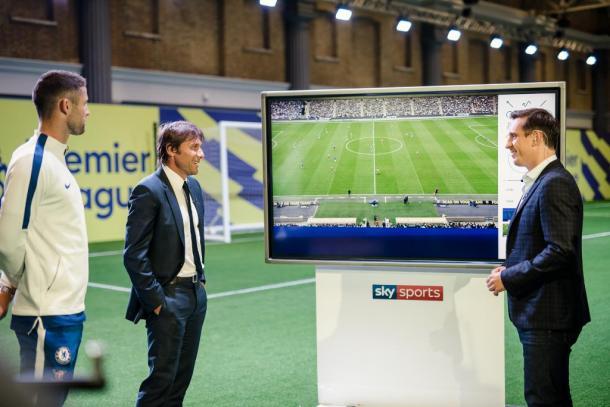 Conte en la previa del encuentro junto a SkySporst | Chelsea.