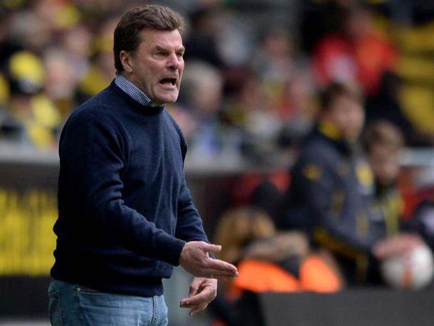 Dieter Hecking was far from happy after another loss. | Image source: kicker - Getty Images