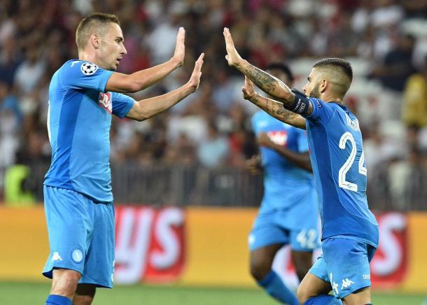 Insigne comemora o gol que sacramentou a vitória do Napoli (Foto: Divulgação/SSC Napoli)